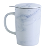 Marble Pattern New Bone China Mug with Tilt and Drip Infuser