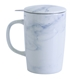 Marble Pattern New Bone China Mug with Tilt and Drip Infuser - 5002-clone1