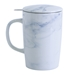 Marble Pattern New Bone China Mug with Tilt and Drip Infuser - 5002-clone1E-D2M