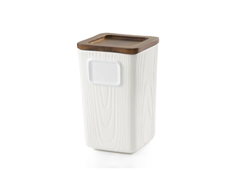 Woodgrain Tea Canister (24 oz.)